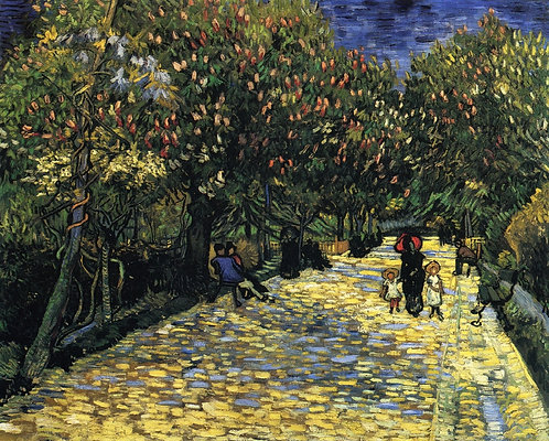"""Avenue with Flowering Chestnut Trees"" by Van Gogh"