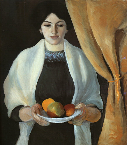 Portrait with Apples- Wife of the Artist