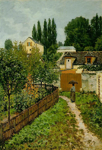 Sisley_Garden Path in Louveciennes