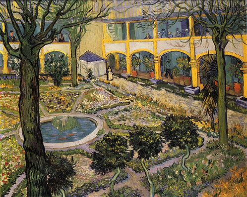 """Courtyard of the Hospital in Arles"" by Van Gogh"