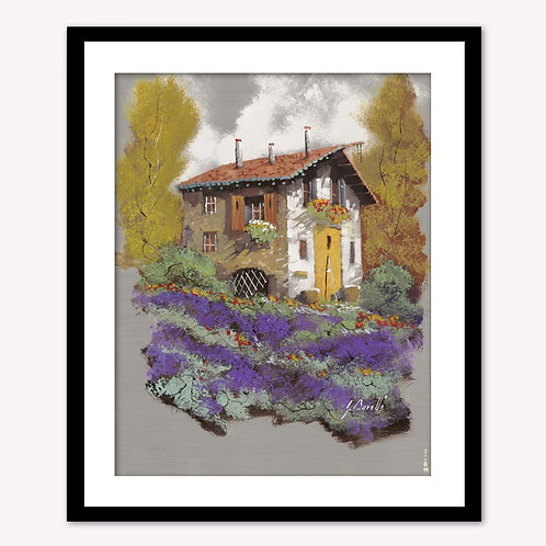 House in Purple Field