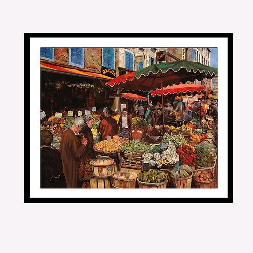 Green Umbrella in the Marketplace