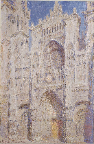 """""""Rouen Cathedral: The Portal (Sunlight)"""" by Monet"""