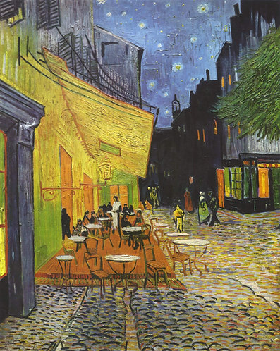 """Terrace of a Café at Night (Place du Forum)"" by Van Gogh"