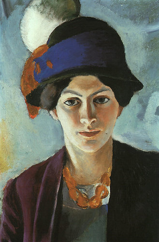Portrait of the Artist's wife Elisabeth with a Hat (Frau des Kunstlers mit Hut)