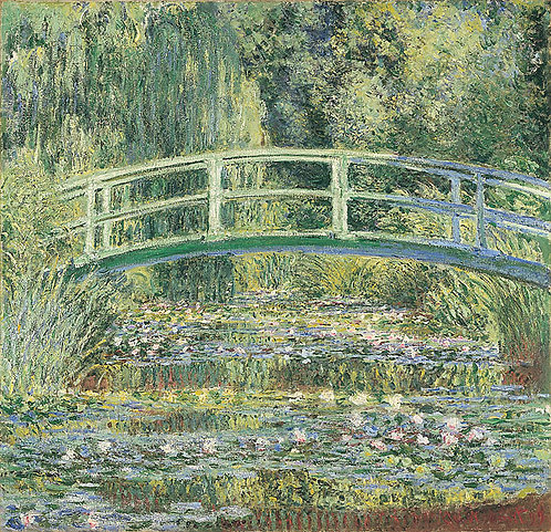 """Water-Lilies and Japanese Bridge"" by Monet"