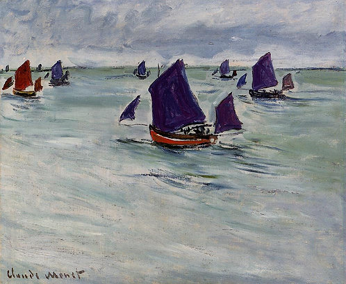 Monet - Fishing Boats off Pourville