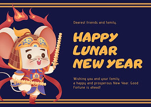 Blue and Gold Chinese Lunar New Year Car