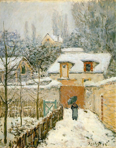 Sisley_Snow at Louveciennes