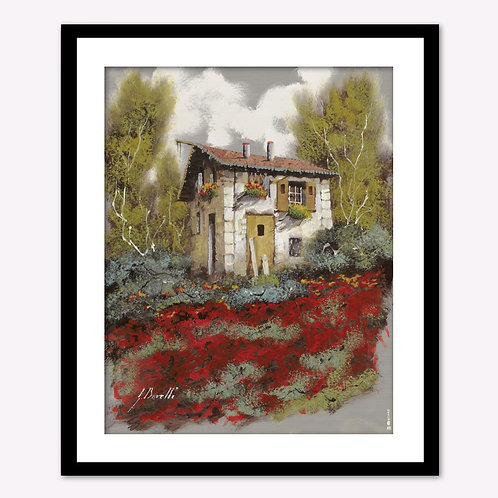 House in Red Field