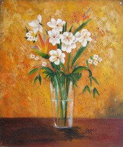 Flowers in Clear Glass