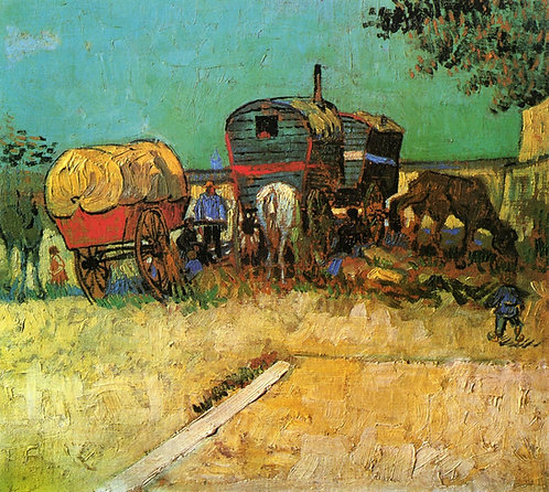 """Encampment of Gypsies with Caravans"" by Van Gogh"