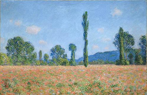 """Poppy Field (Giverny)"" by Monet"