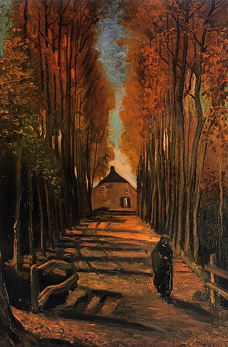 """Avenue of Poplars at Sunset"" by Van Gogh"