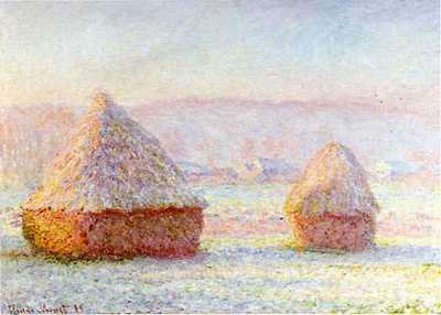 """Haystacks, White-Frost Effect"" by Monet"