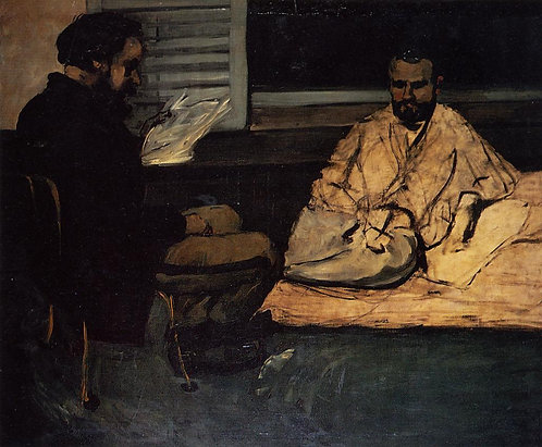 Cezanne_Paul Alexis Reading to Emile Zola