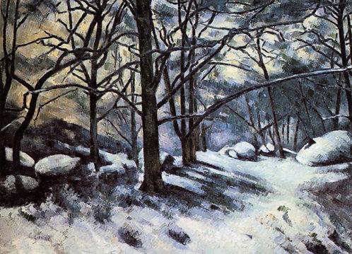 Cezanne_Melting Snow, Fontainebleau
