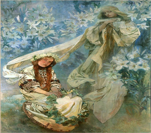 Mucha_Madonna in the Lilies