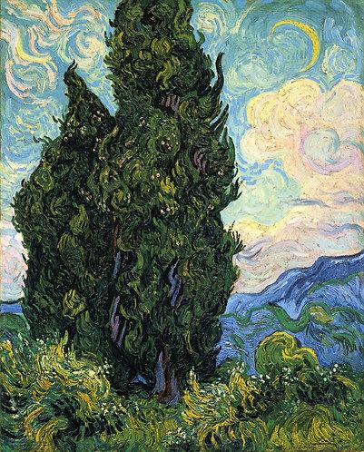 """""""Cypresses"""" by Van Gogh"""