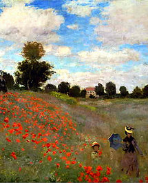 """Poppies"" by Monet"