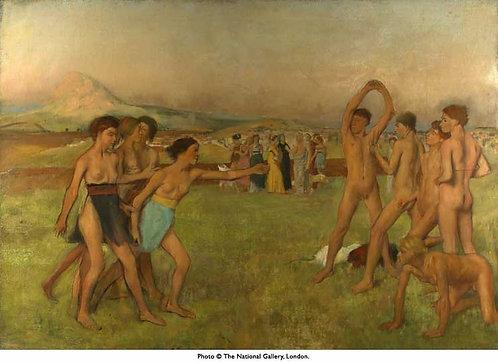 Degas_Young Spartans Exercising