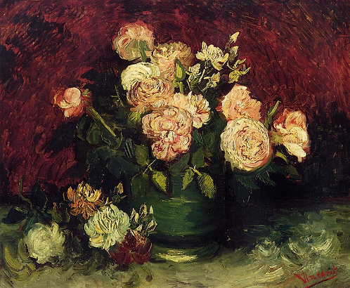 """Bowl with Peonies and Roses"" by Van Gogh"