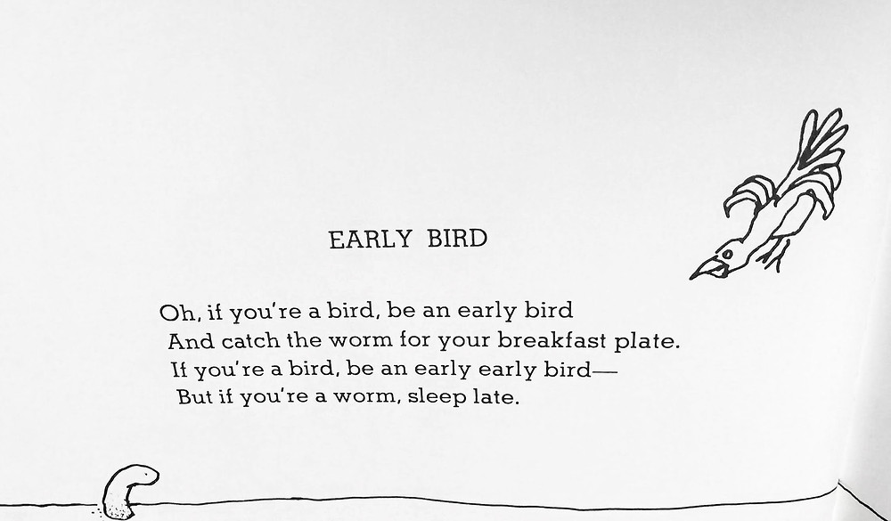 Early Bird, Where the Sidewalk Ends. Harper Collins 1974.