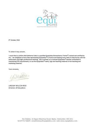 Letter of Reccomendation 2018