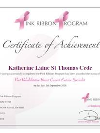 Certificate of Achievement 2016