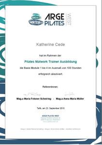 ARGE Pilates Matwork Trainer Certificate