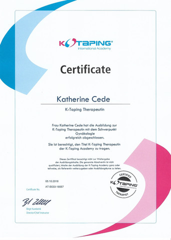 2018 Certificate K - Taping International Academy