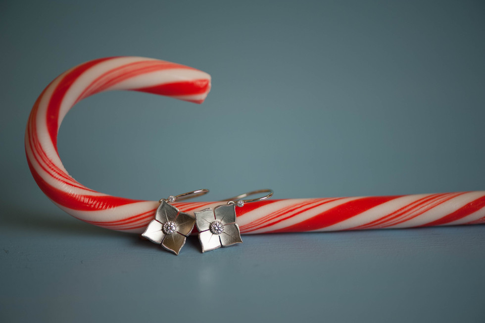 candy cane and jewels