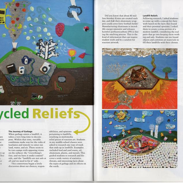 School Arts Magazine - Recycled Reliefs