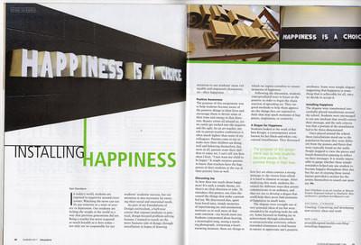 School Arts Magazine - Installation