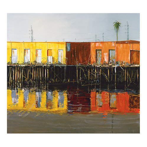 """""""The Haunted Warf""""  24""""x 26"""" on canvas"""