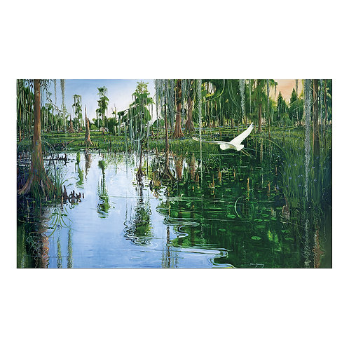 """""""Bayou Coquille"""" 38""""x 64"""" on canvas"""