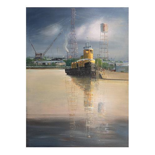 """"""" The Yelo Tug """" 20""""x30"""" on canvas"""