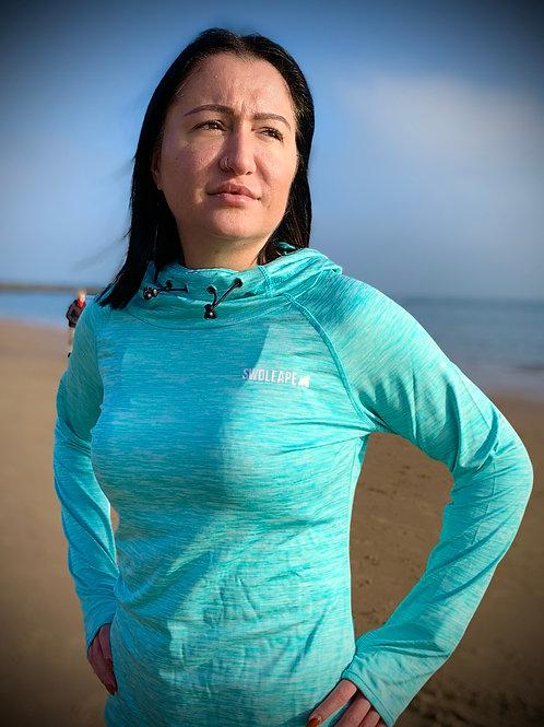 Women's Ocean Blue Performance Hood