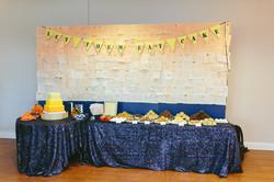 Book themed wedding dessert table