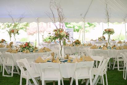 Rustic outdoor wedding reception