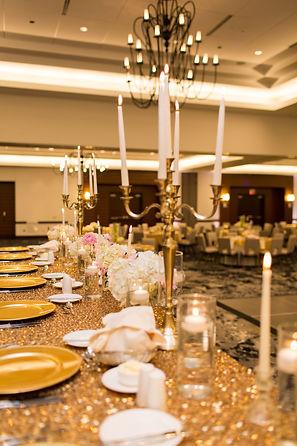 Golden Wedding with candelabaras