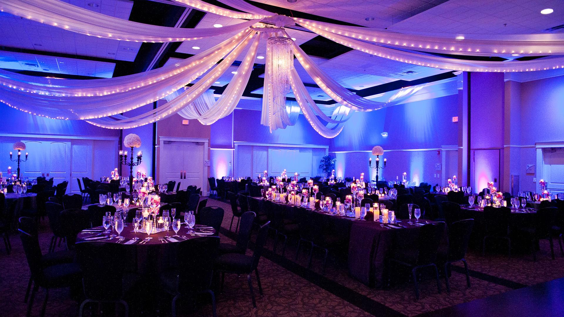 Purple Candlelight Wedding