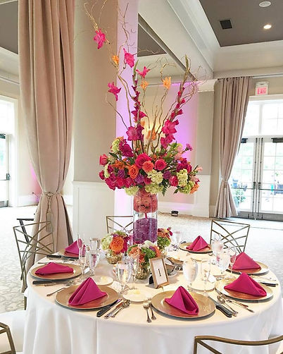 Colorful Hot Pink Wedding Table