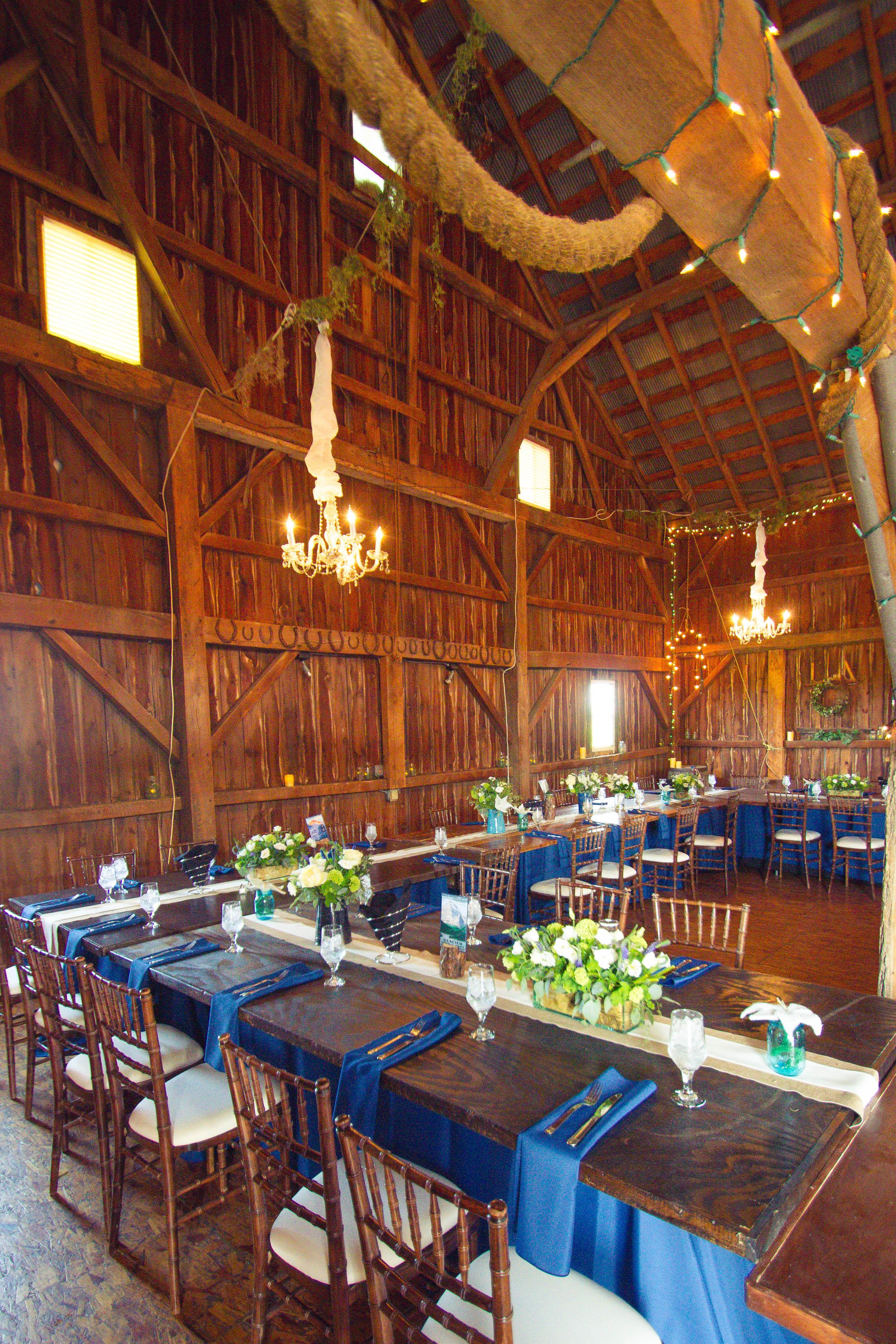 Rustic wedding in a barn