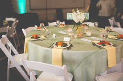 Casual spring wedding reception