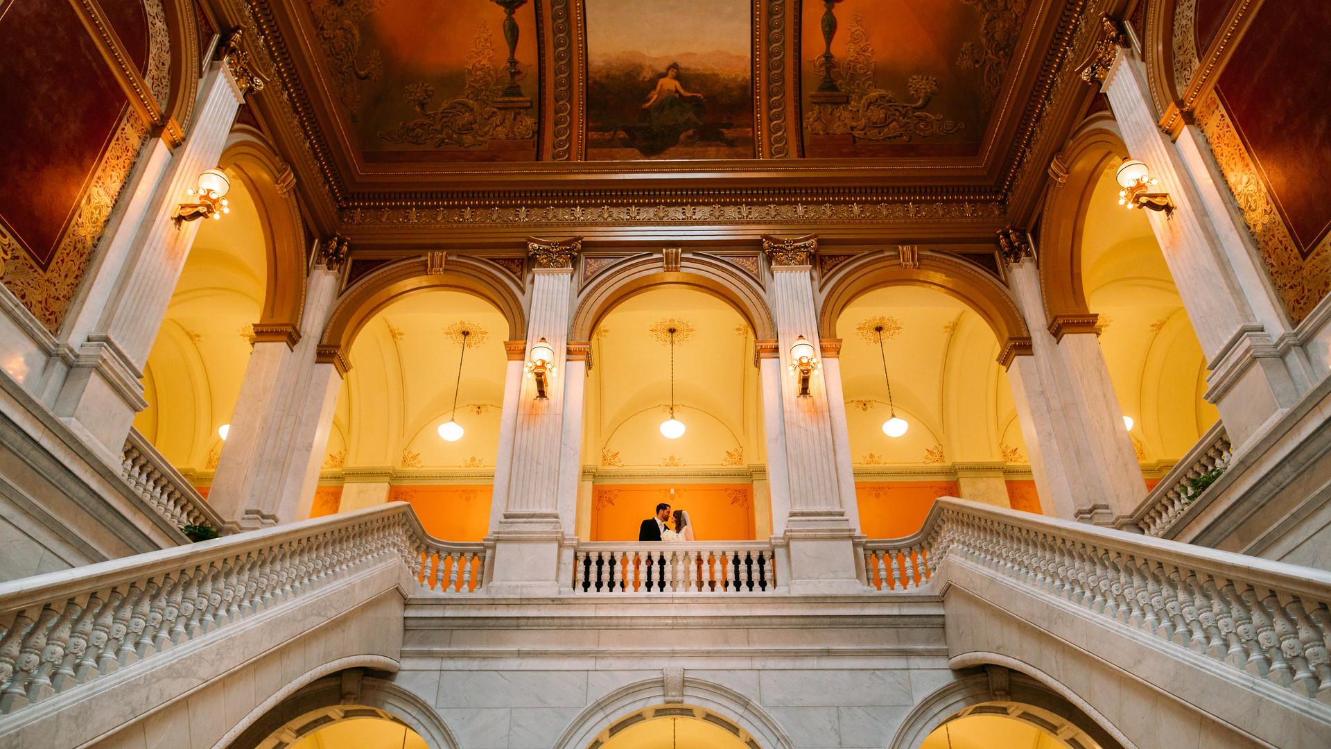 Stairwell Wedding Shot