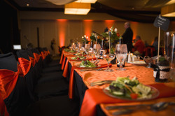 Halloween themed wedding reception