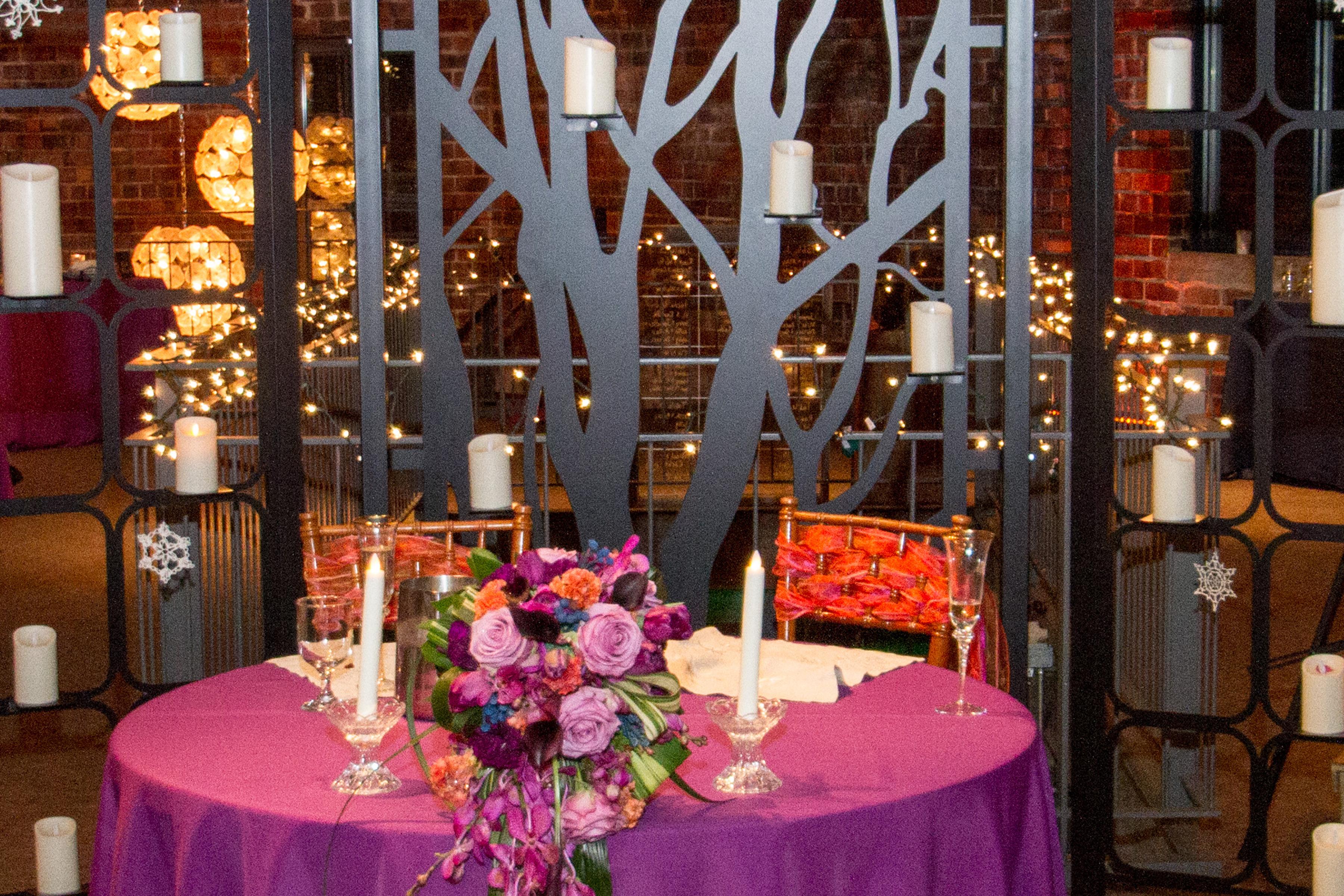 Modern industrial romantic wedding