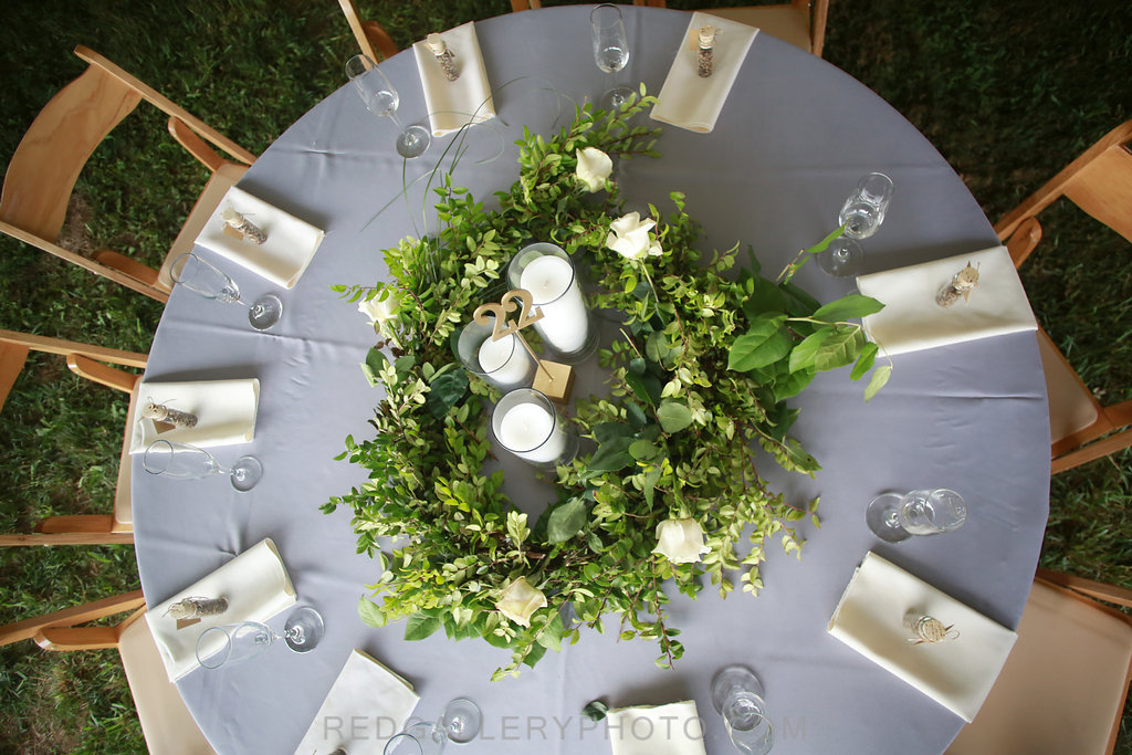 Vintage garden wedding reception