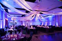 Posh black and purple wedding